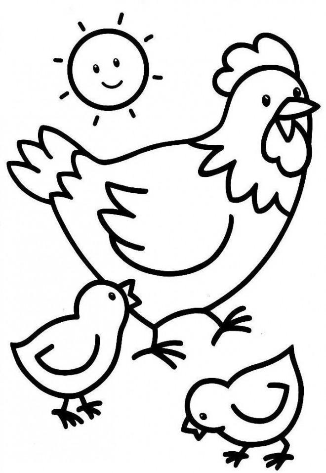 Coloriage et dessins gratuits Poule 42 à imprimer