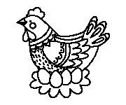 Coloriage Poule 44