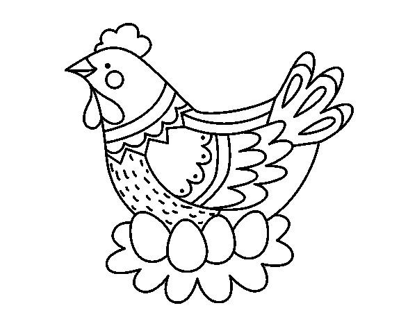 Coloriage et dessins gratuits Poule 44 à imprimer