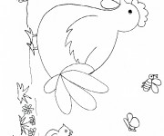 Coloriage et dessins gratuit Poule 6 à imprimer