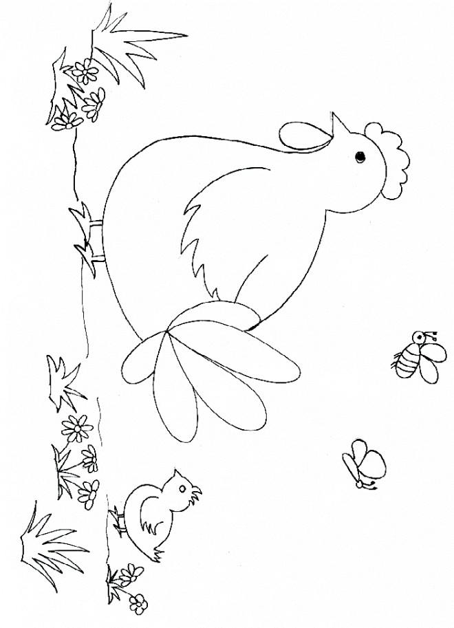 Coloriage et dessins gratuits Poule 6 à imprimer