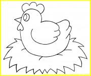 Coloriage et dessins gratuit Poule 7 à imprimer
