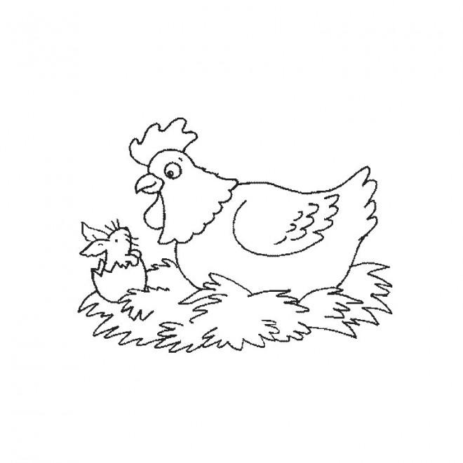 Coloriage et dessins gratuits Poulet humoristique à imprimer