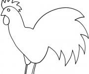 Coloriage dessin  Poule 39