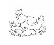 Coloriage et dessins gratuit Poulet humoristique à imprimer