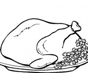 Coloriage Poulet roti