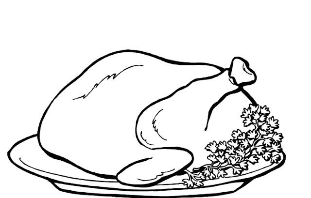 Coloriage Poulet Roti Dessin Gratuit A Imprimer