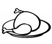 Coloriage Poulet roti délicieux