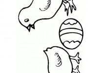 Coloriage dessin  Poussin 14