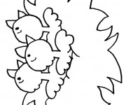 Coloriage Poussins à télécharger
