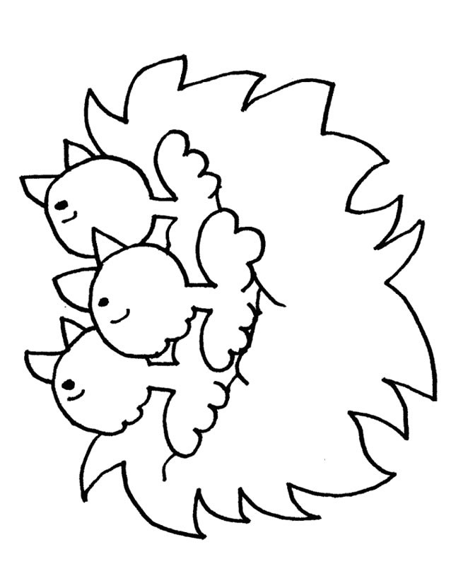 Coloriage et dessins gratuits Poussins à télécharger à imprimer
