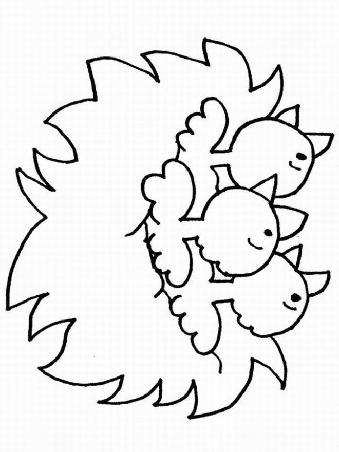 Coloriage et dessins gratuits Poussins en criant à imprimer