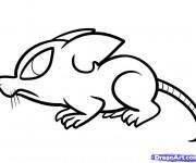Coloriage dessin  Rat 16