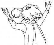 Coloriage dessin  Rat 20