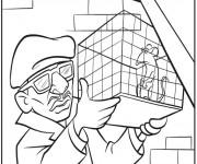 Coloriage et dessins gratuit Rat dans sa cage à imprimer