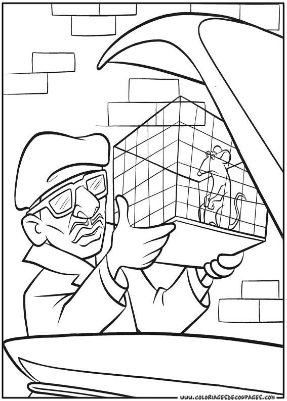 Coloriage et dessins gratuits Rat dans sa cage à imprimer