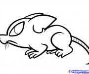 Coloriage et dessins gratuit Rat dessin animé à imprimer