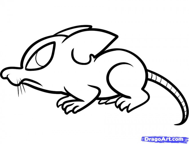 Coloriage et dessins gratuits Rat dessin animé à imprimer