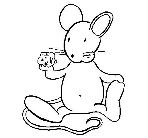 Coloriage et dessins gratuits Rat en mangeant à imprimer