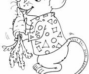 Coloriage et dessins gratuit Rat et carotte à imprimer