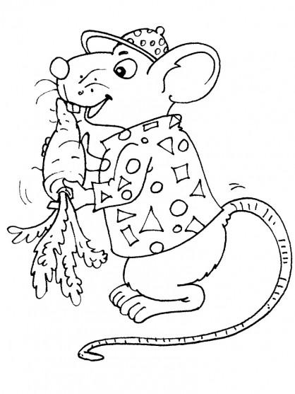 Coloriage et dessins gratuits Rat et carotte à imprimer