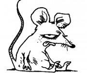 Coloriage et dessins gratuit Rat humoristique à imprimer