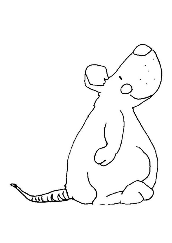 Coloriage et dessins gratuits Rat rigolo à imprimer
