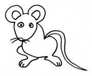 Coloriage Rat simple