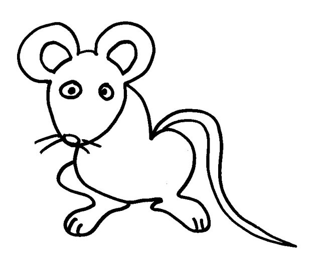 Coloriage et dessins gratuits Rat simple à imprimer