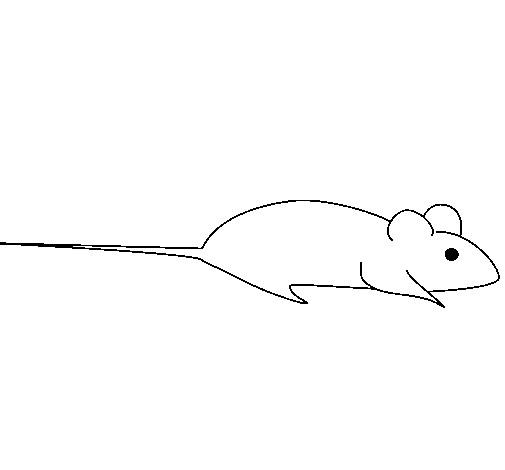 Coloriage et dessins gratuits Une souris stylisé à imprimer