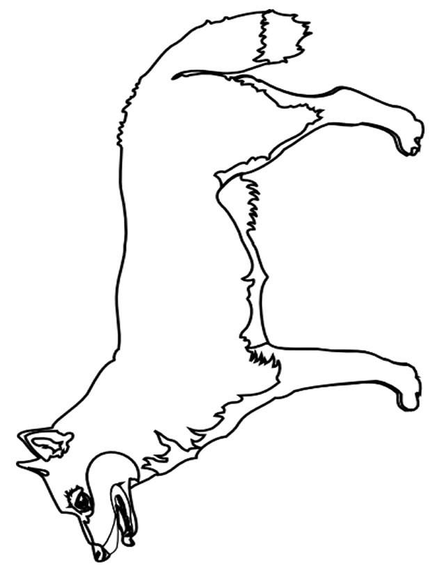 Coloriage et dessins gratuits Renard à découper à imprimer