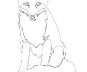 Coloriage et dessins gratuit Renard au crayon à imprimer