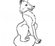 Coloriage et dessins gratuit Renard debout à imprimer