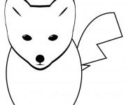Coloriage et dessins gratuit Renard dessin animé à imprimer