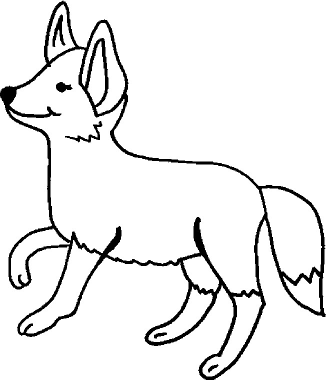 Coloriage renard en couleur dessin gratuit imprimer - Coloriage petit renard ...