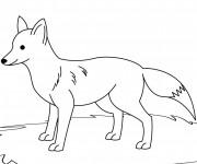 Coloriage et dessins gratuit Renard en noir et blanc à imprimer