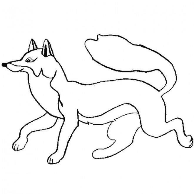 Coloriage renard facile dessin gratuit imprimer - Coloriage le corbeau et le renard ...