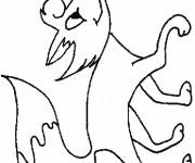 Coloriage et dessins gratuit Renard heureux à imprimer
