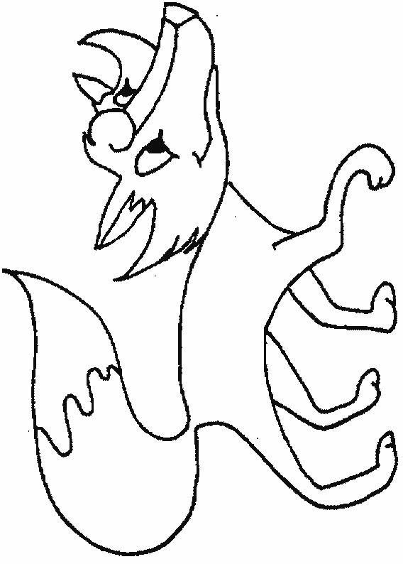 Coloriage et dessins gratuits Renard heureux à imprimer
