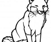 Coloriage et dessins gratuit Renard vecteur à imprimer