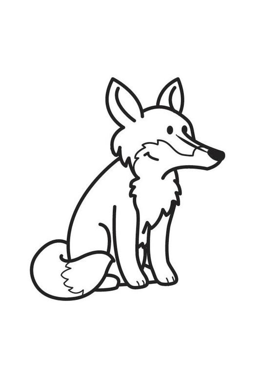 Coloriage un petit renard vecteur dessin gratuit imprimer - Coloriage petit renard ...