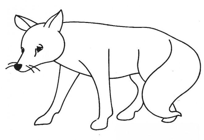 Coloriage Un Renard triste dessin gratuit à imprimer
