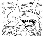 Coloriage dessin  Requin 1