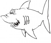 Coloriage dessin  Requin 17