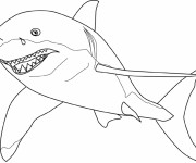 Coloriage dessin  Requin 6