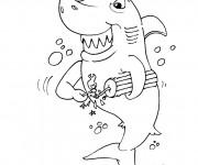 Coloriage Requin drôle