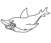 Coloriage Requin effrayant