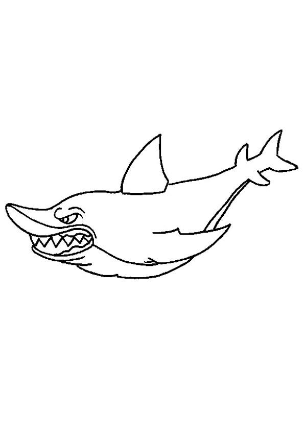 Coloriage et dessins gratuits Requin effrayant à imprimer