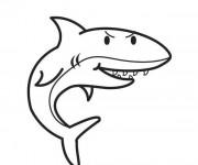 Coloriage Requin en noir