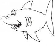 Coloriage Requin humoristique